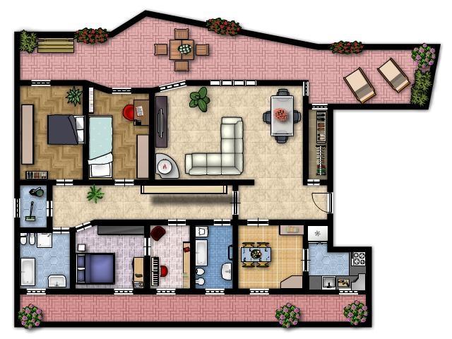 Planimetria casa 120 mq home design e interior ideas - Planimetria casa 120 mq ...