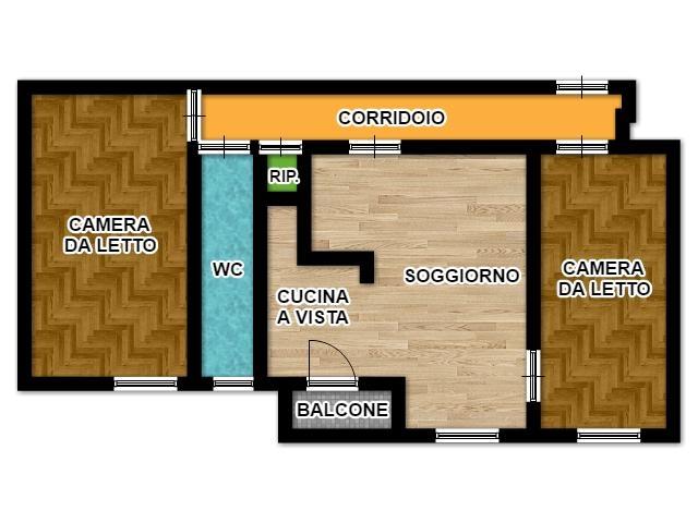 Great Appartamento In Condominio Di 3 Locali A MILANO ISOLA Di 70 Mq